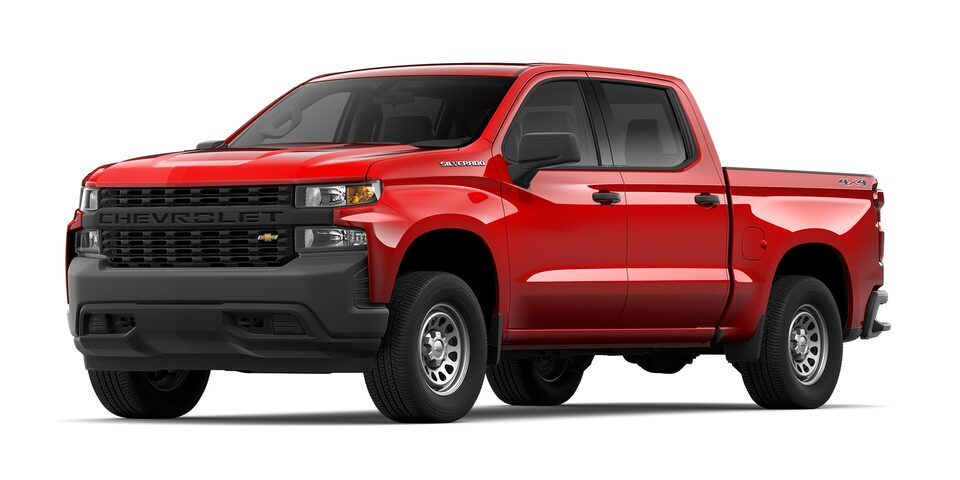 Chevrolet Silverado 2021 color rojo lava